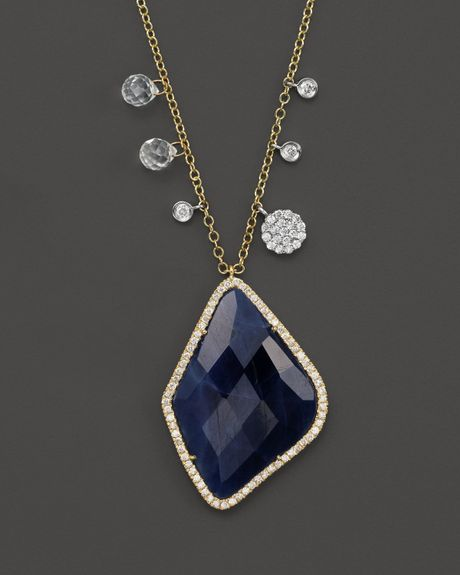 meira t 14k yellow gold blue sapphire and white topaz