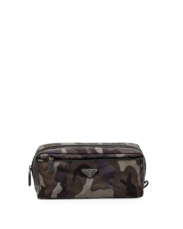 a66dddb8133 Lyst - Prada Camouflage Nylon Toiletry Kit in Gray for Men