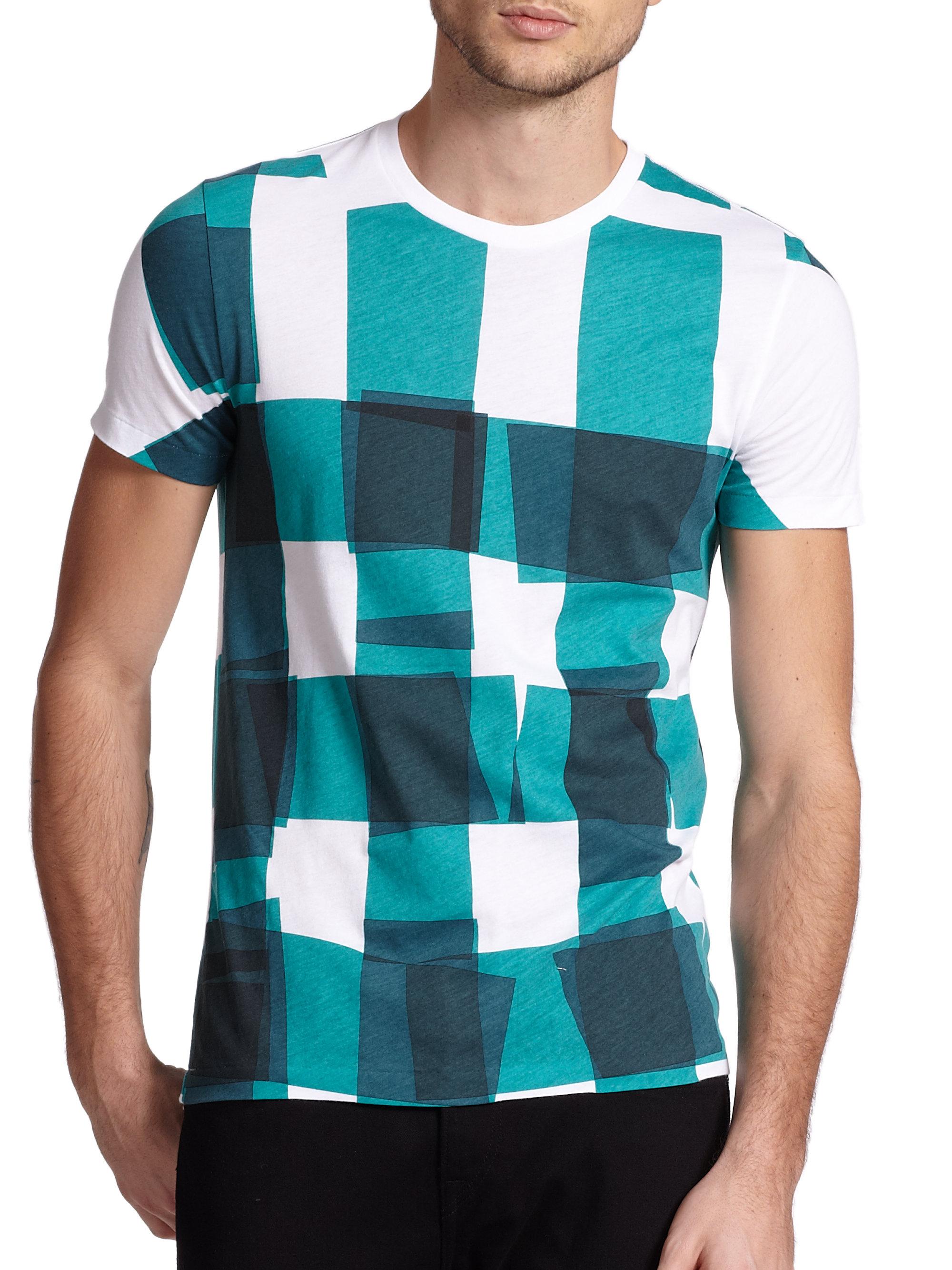 Burberry brit t shirt in blue for men lyst for T shirt burberry men