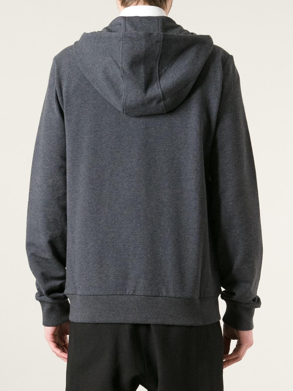 Lyst - Gucci Zip Up Hoodie in Gray for Men