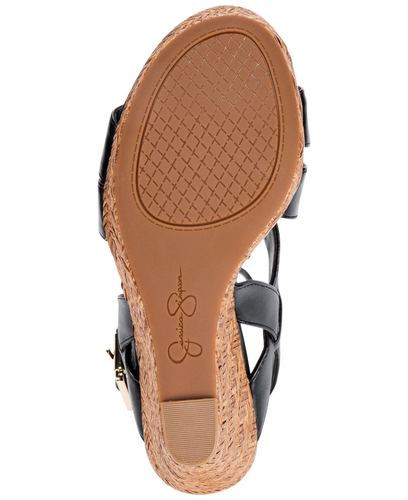 Lyst Jessica Simpson Jerrimo Platform Wedge Sandals In Black