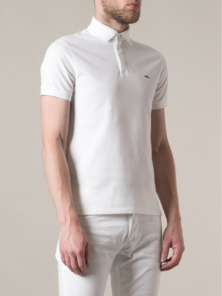 Ralph lauren black logo polo shirt in white for men lyst for Ralph lauren black label polo shirt