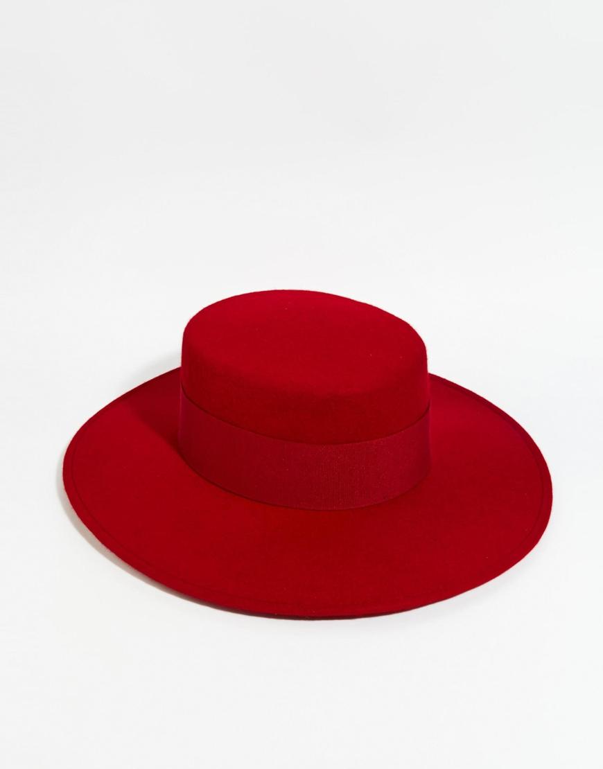 Catarzi Wide Brim Matador Hat In Red in Red - Lyst 4ffd91b9e4f2