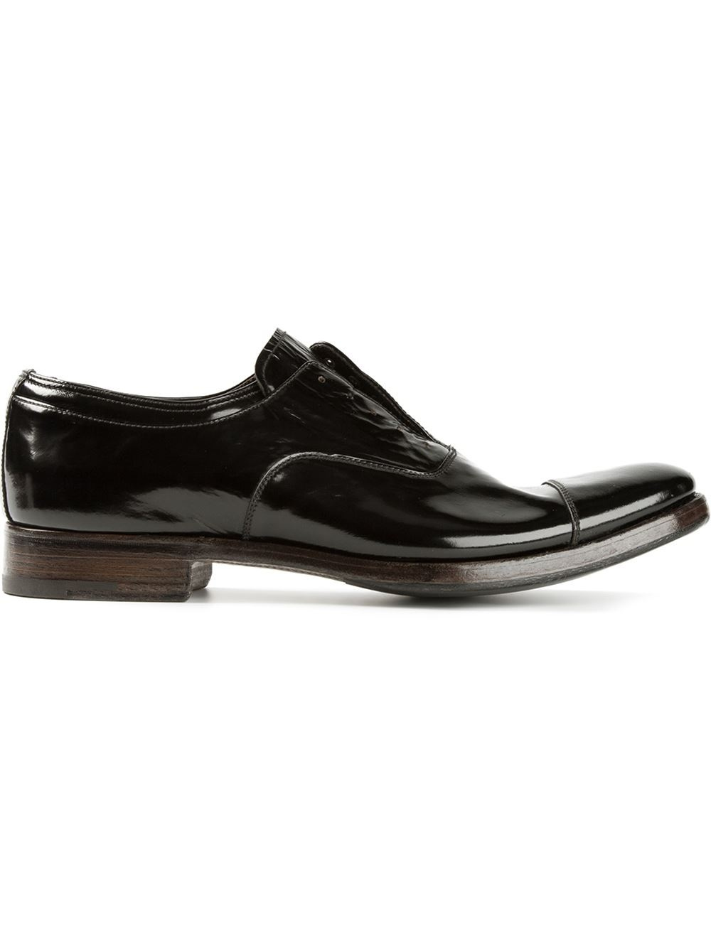 premiata oxford shoes in black for lyst