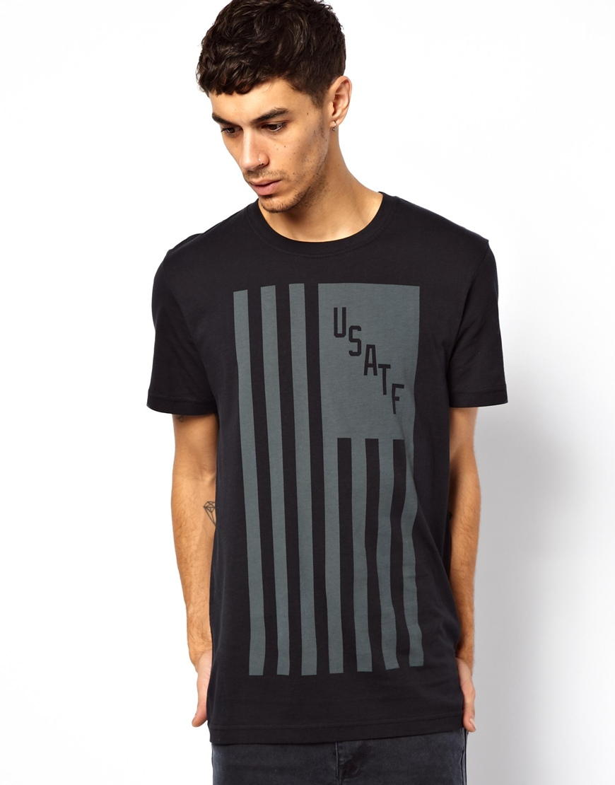 Usatf Black Tshirt With Men Nike Flag Lyst In For 4wA6w