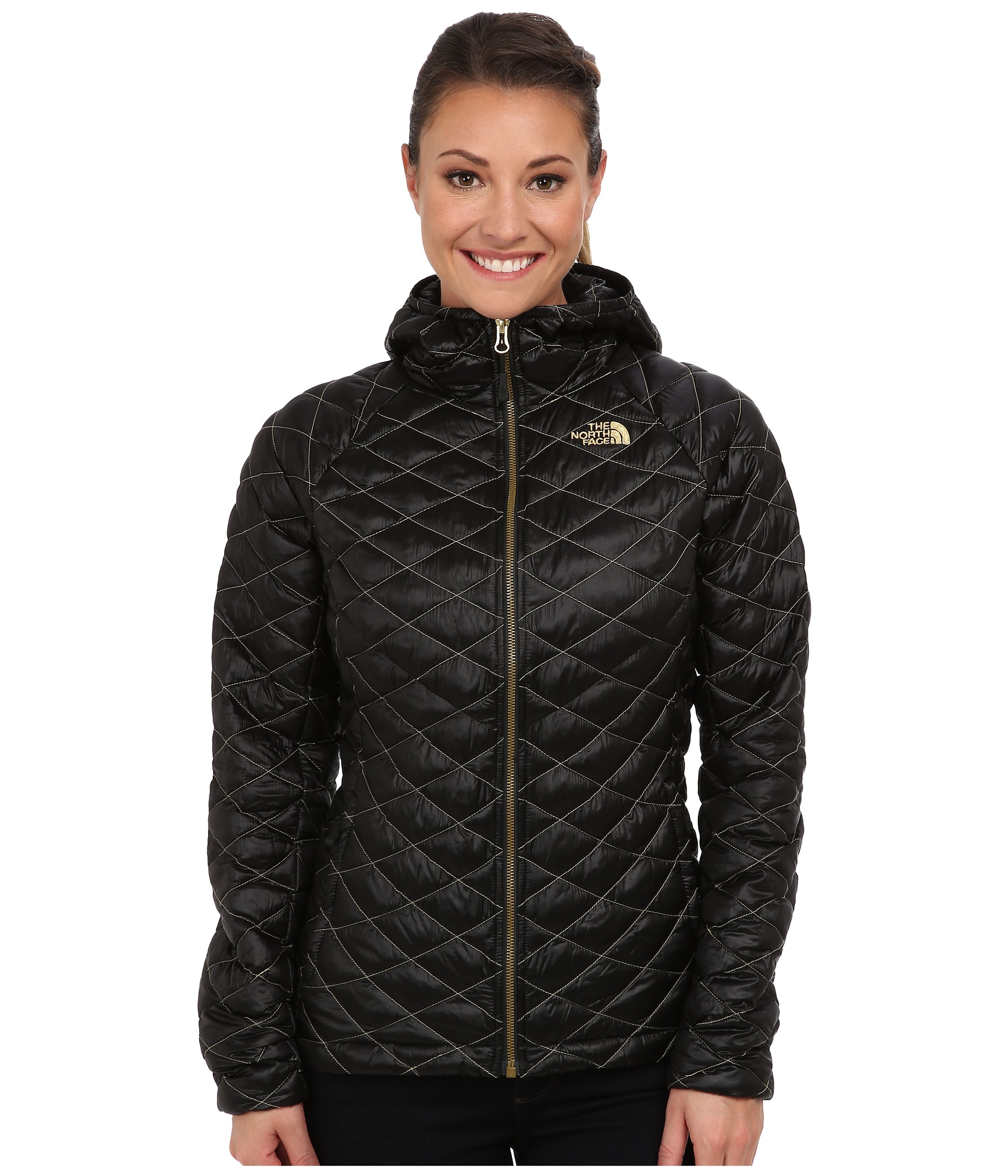 cc4e99bd8 north face jacket black and gold