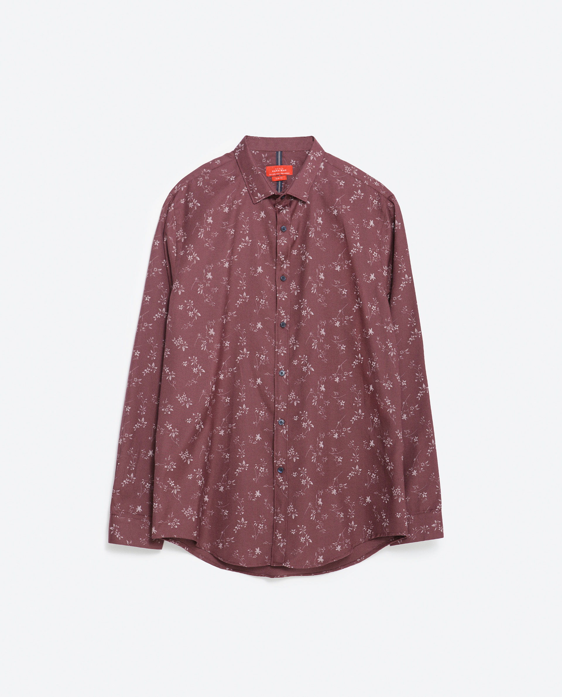 Zara floral shirt in purple for men lyst for Zara mens floral shirt