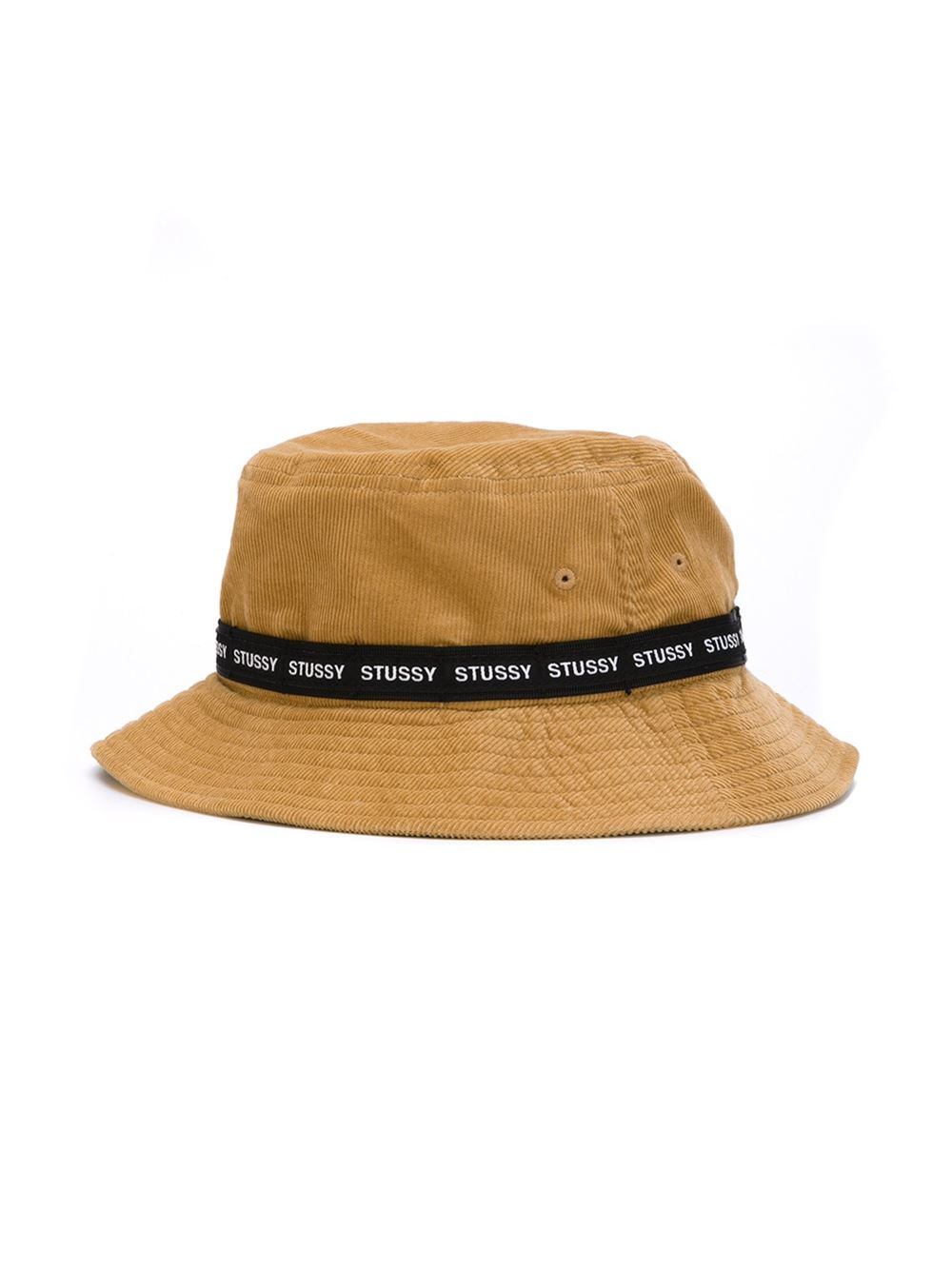 Lyst - Stussy Logo Band Corduroy Bucket Hat in Natural for Men fb22dee1a7aa
