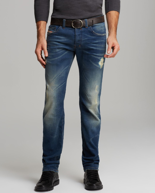 Diesel Jeans Safado Slim Straight Fit in 824p in Blue for Men | Lyst