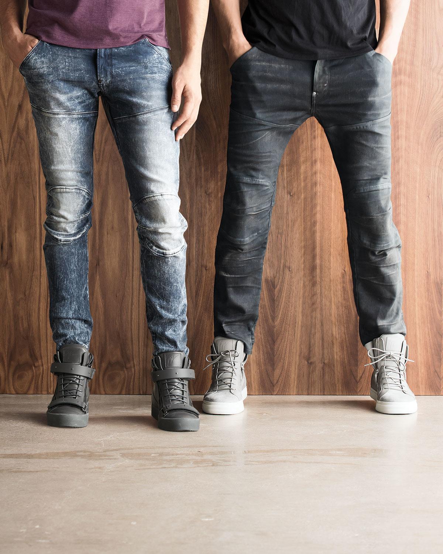 lyst g star raw 5620 3d aged super slim moto jeans in. Black Bedroom Furniture Sets. Home Design Ideas