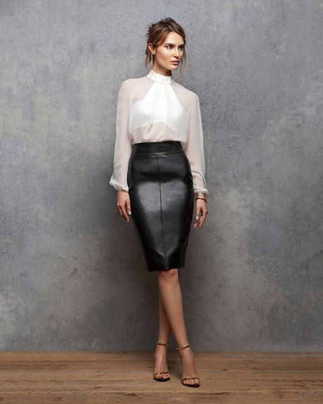 bailey 44 exclusive leather like pencil skirt in black lyst