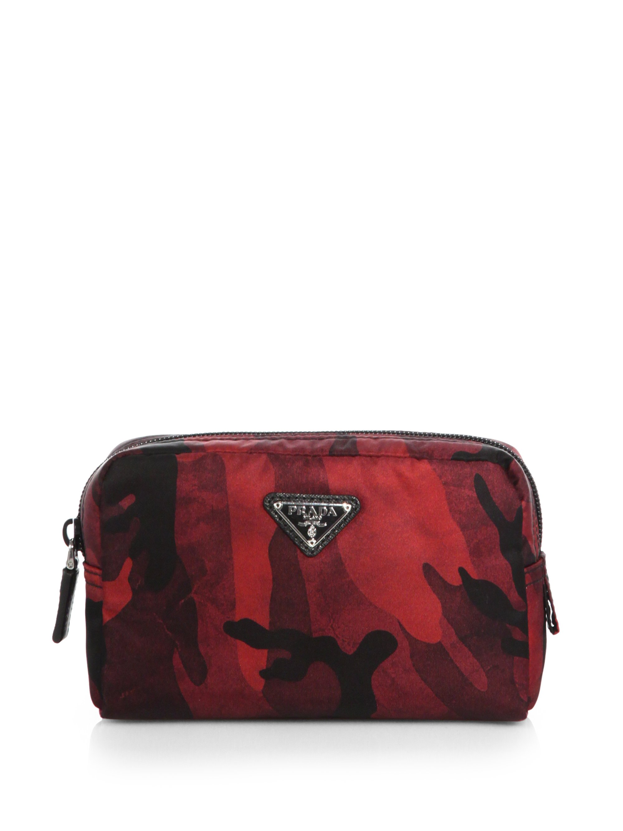 Lyst Prada Tessuto Camouflage Small Cosmetic Case In