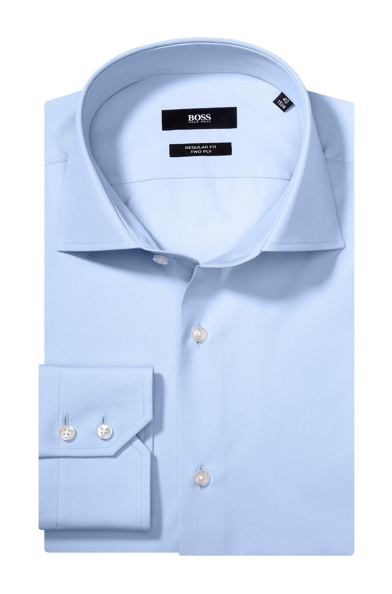 b0f0f067 BOSS Plain Regular-fit Shirt In Cotton: 'gerald' in Blue for Men - Lyst