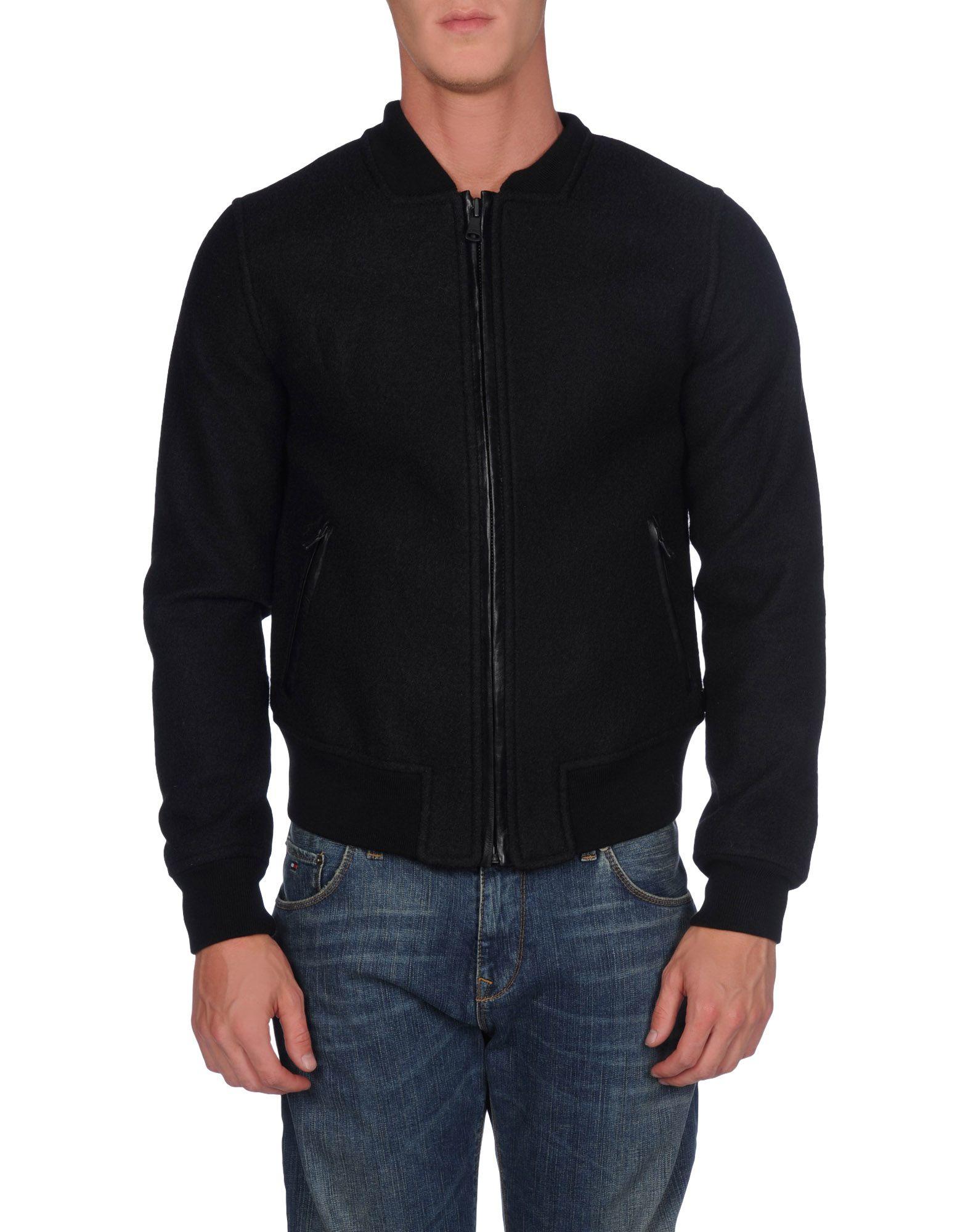 Calvin klein jeans Jacket in Black | Lyst