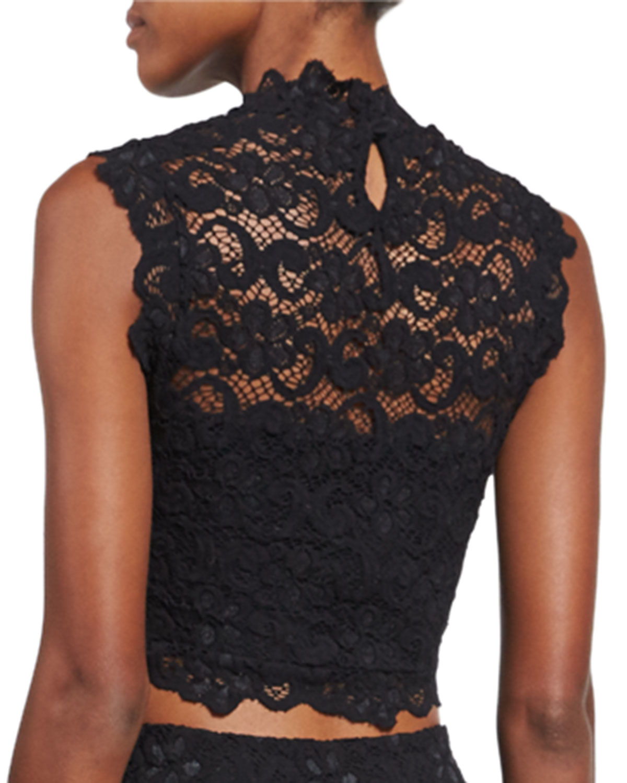 9a0e39ad8a97bc Lyst - Nightcap Dixie-lace Crop Top in Black