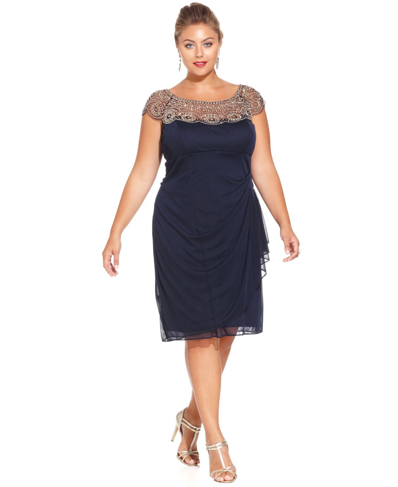 Plus size dress dillards xscape