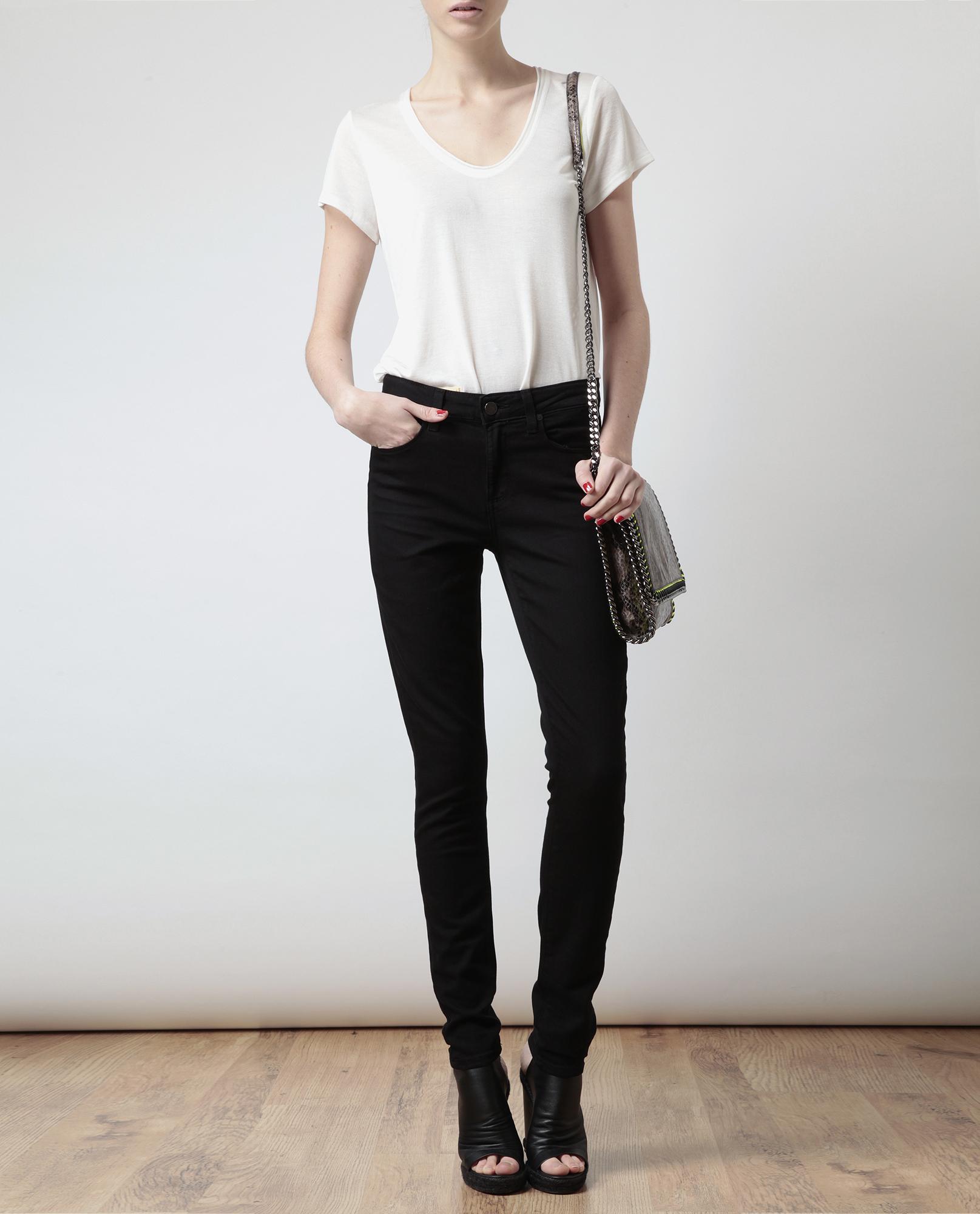 Paige High Waisted Skinny Jeans - Jeans Am