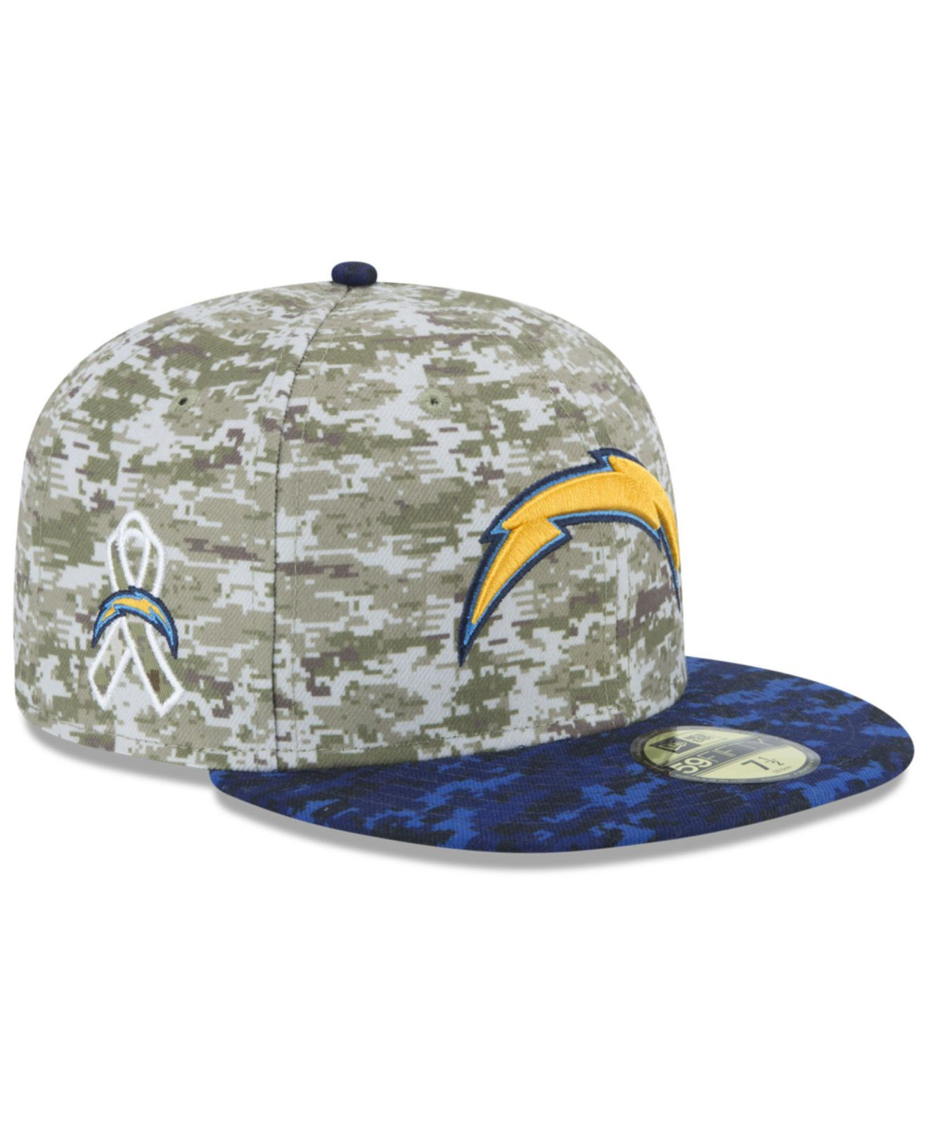 San Diego Chargers Cap: Ktz San Diego Chargers Salute To Service 59fifty