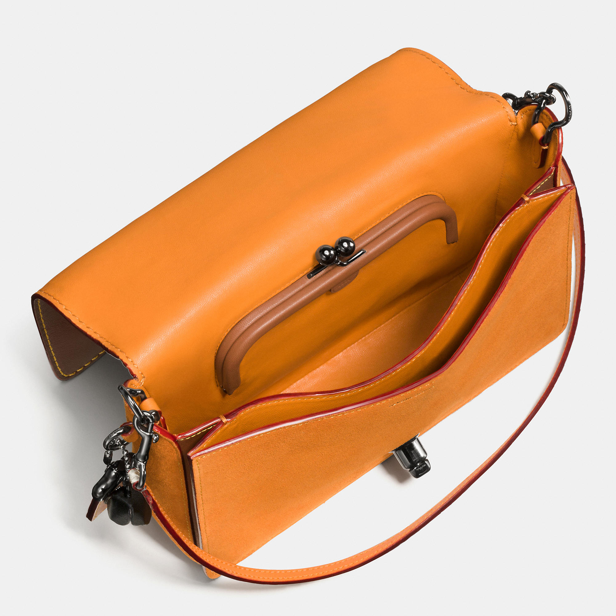 651b4fc123 ... link glovetanned leather womens crossbody 75cf4 50a78  spain lyst coach  dinky crossbody 24 in colorblock python in brown 99d4f 79e02