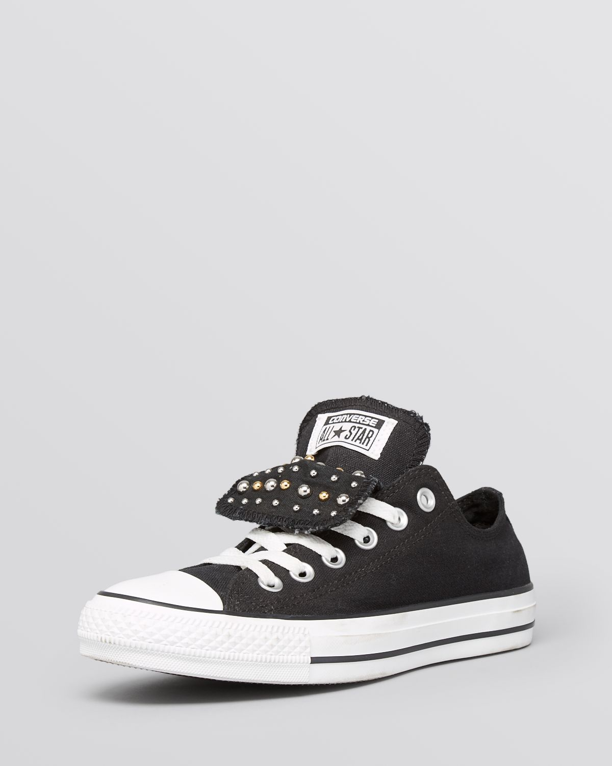 0d73b5a65e20f7 Lyst - Converse Lace Up Sneakers - Women S All Star Studded Double ...