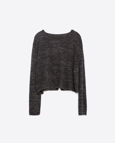 Zara Cropped Grey Sweater 121