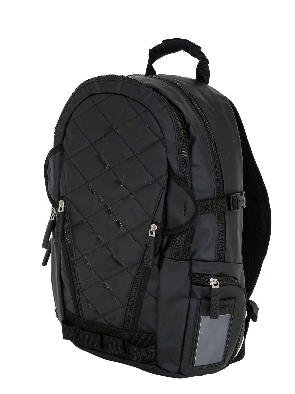 Lyst Superdry Quilted Rubber Backpack In Black For Men