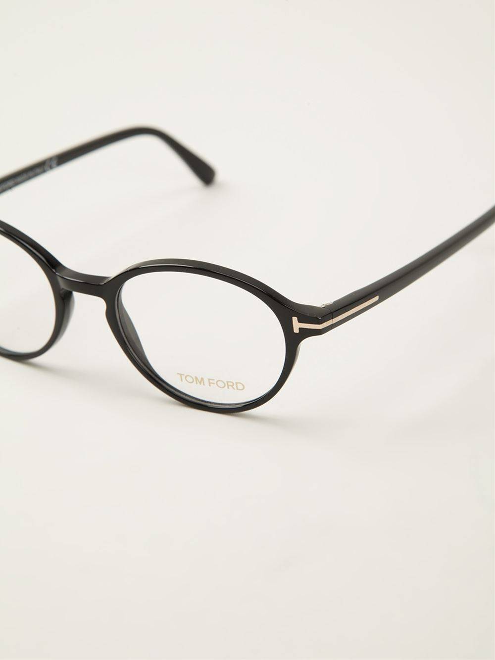 6a6192964a3 Lyst - Tom ford Round Frame Glasses in Black
