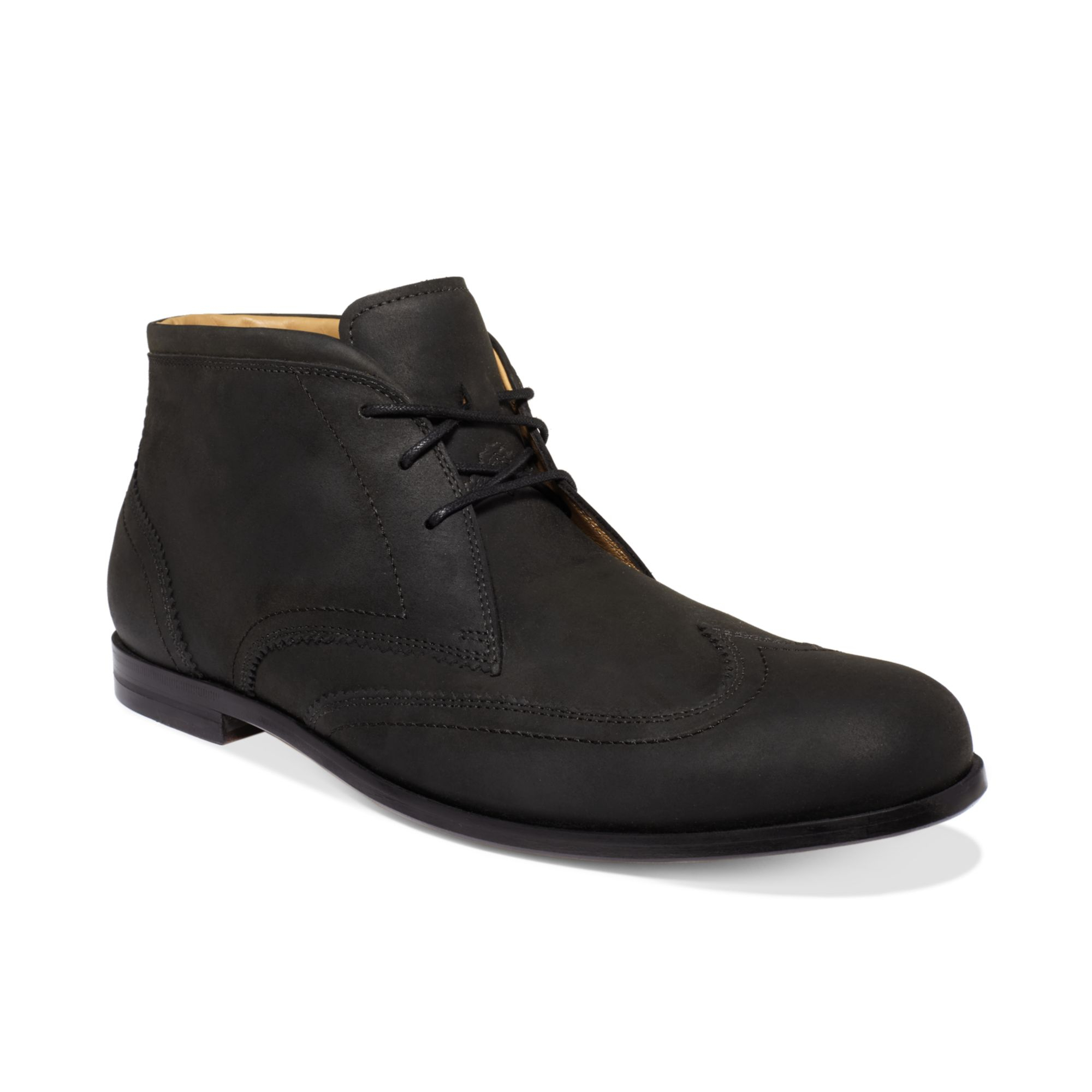 cole haan edison chukka boots in black for lyst