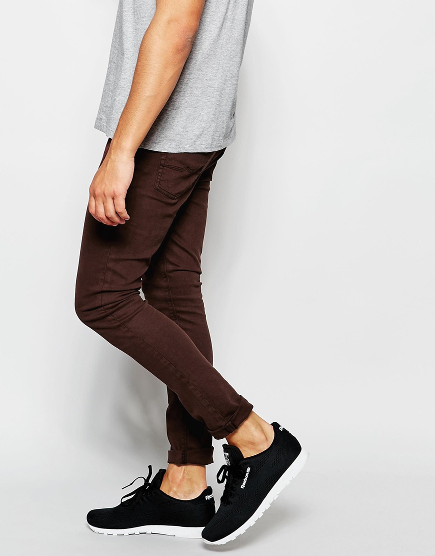custifara.ga: brown skinny jeans. From The Community. JD Apparel Men's Skinny Fit Jeans. by JD Apparel. $ - $ $ 15 $ 29 99 Prime. FREE Shipping on eligible orders. Some sizes/colors are Prime eligible. out of 5 stars Product Features Twill Fabric Skinny Jeans (Strong Fabric).