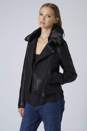 Collection Leather Jacket Fur Collar Pictures - Reikian
