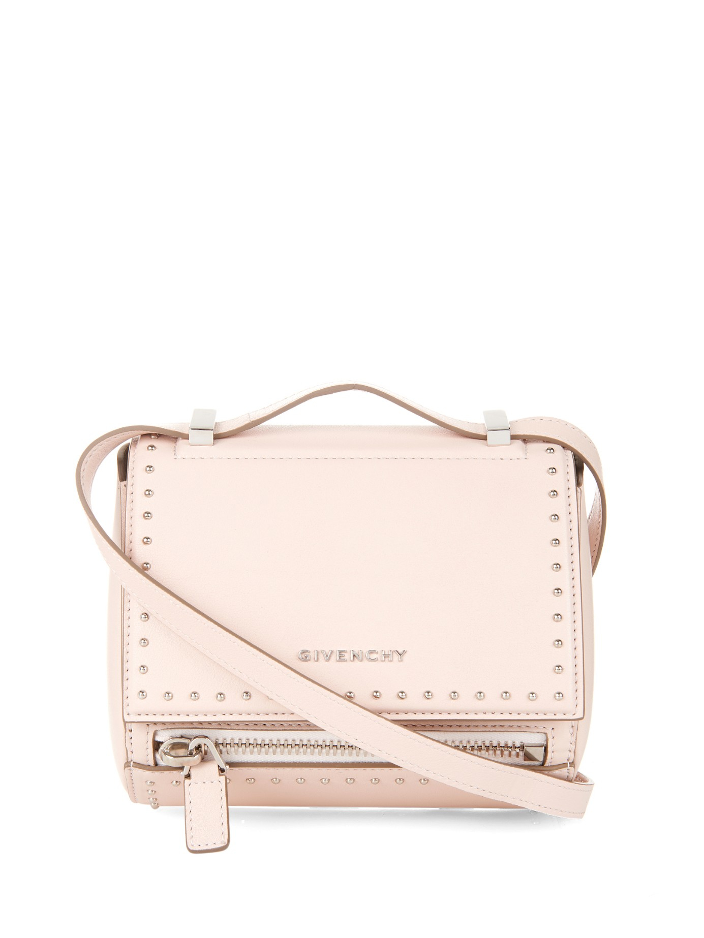 Lyst - Givenchy Pandora Box Mini Leather Bag in Natural 1caa69d494