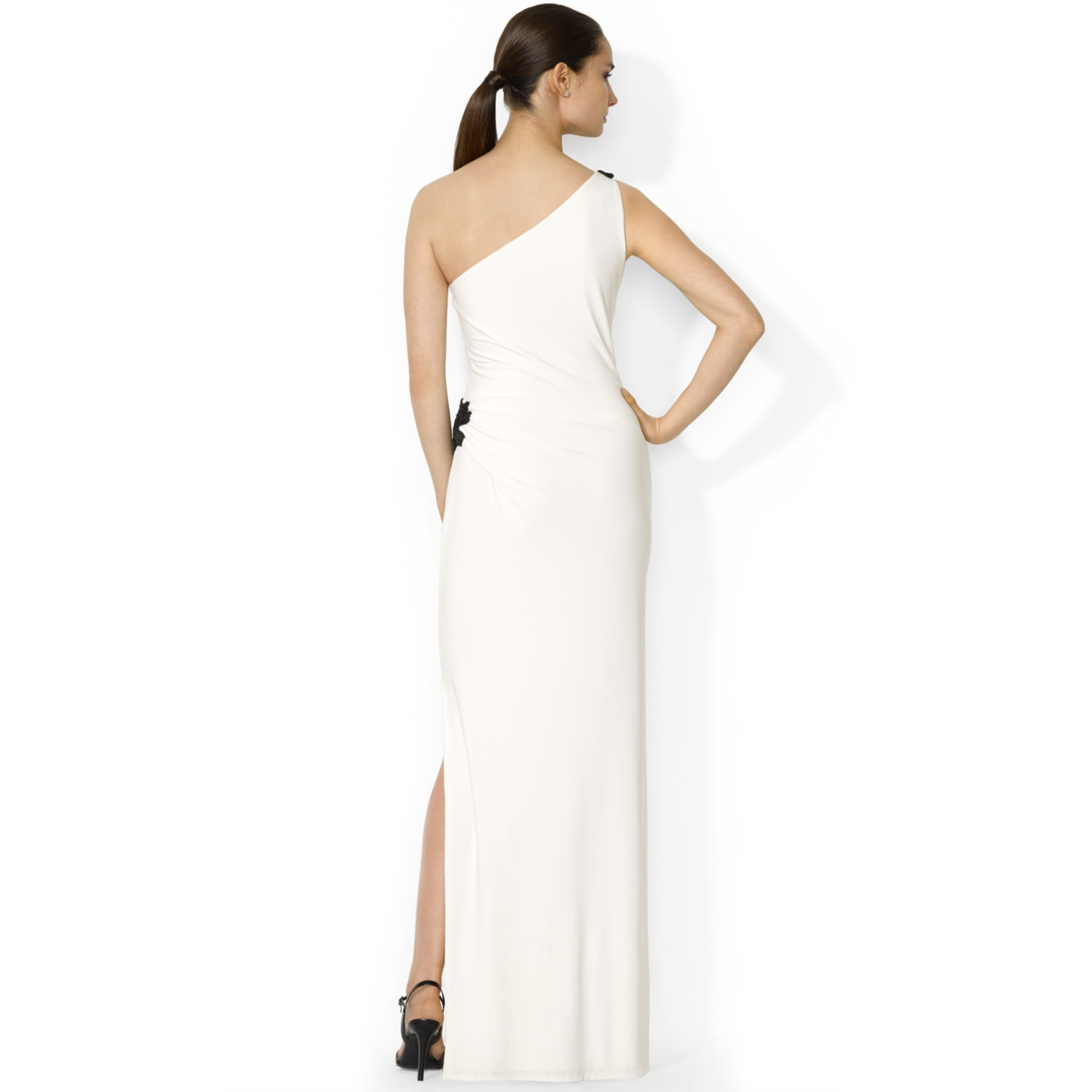 Lauren Ralph Lauren Väskor : Lyst lauren by ralph beaded one shoulder gown in