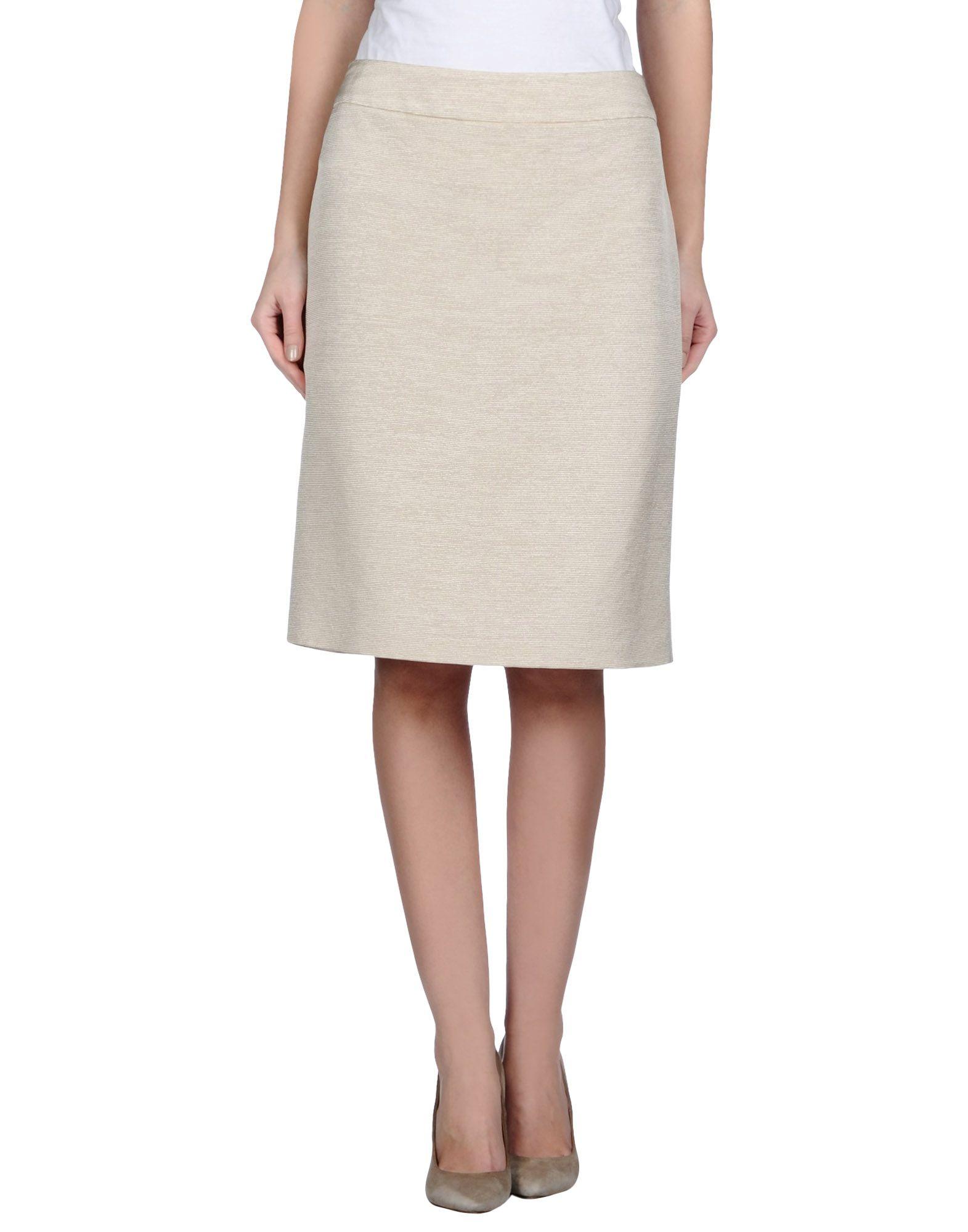 armani knee length skirt in beige