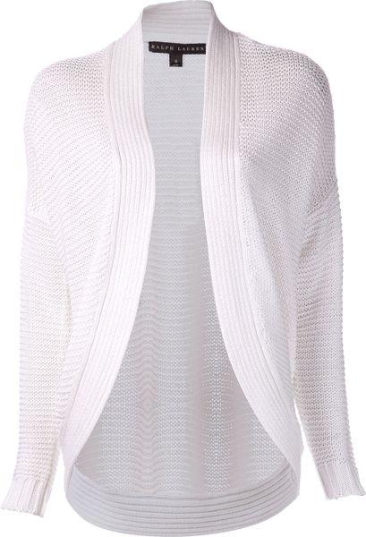 Ralph Lauren Knit Cardigan In White Lyst