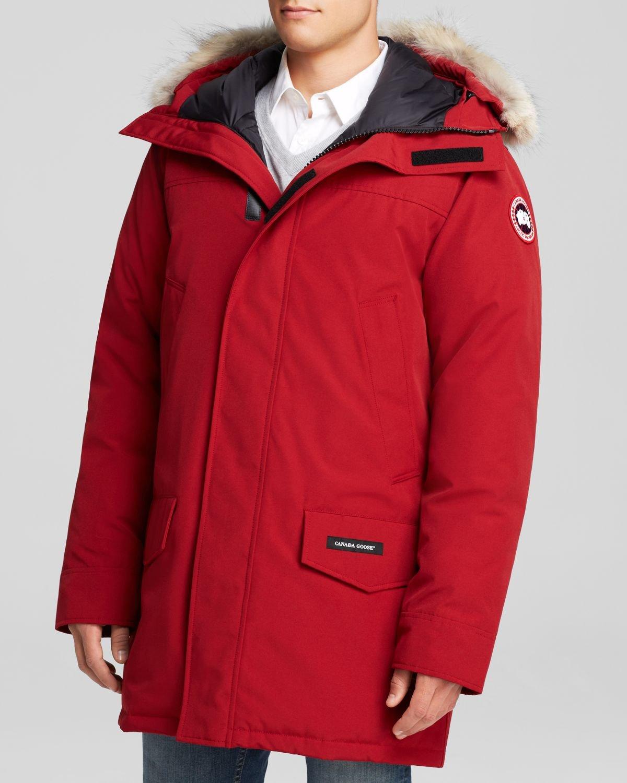 canada goose langford parka with fur hood in red for men. Black Bedroom Furniture Sets. Home Design Ideas