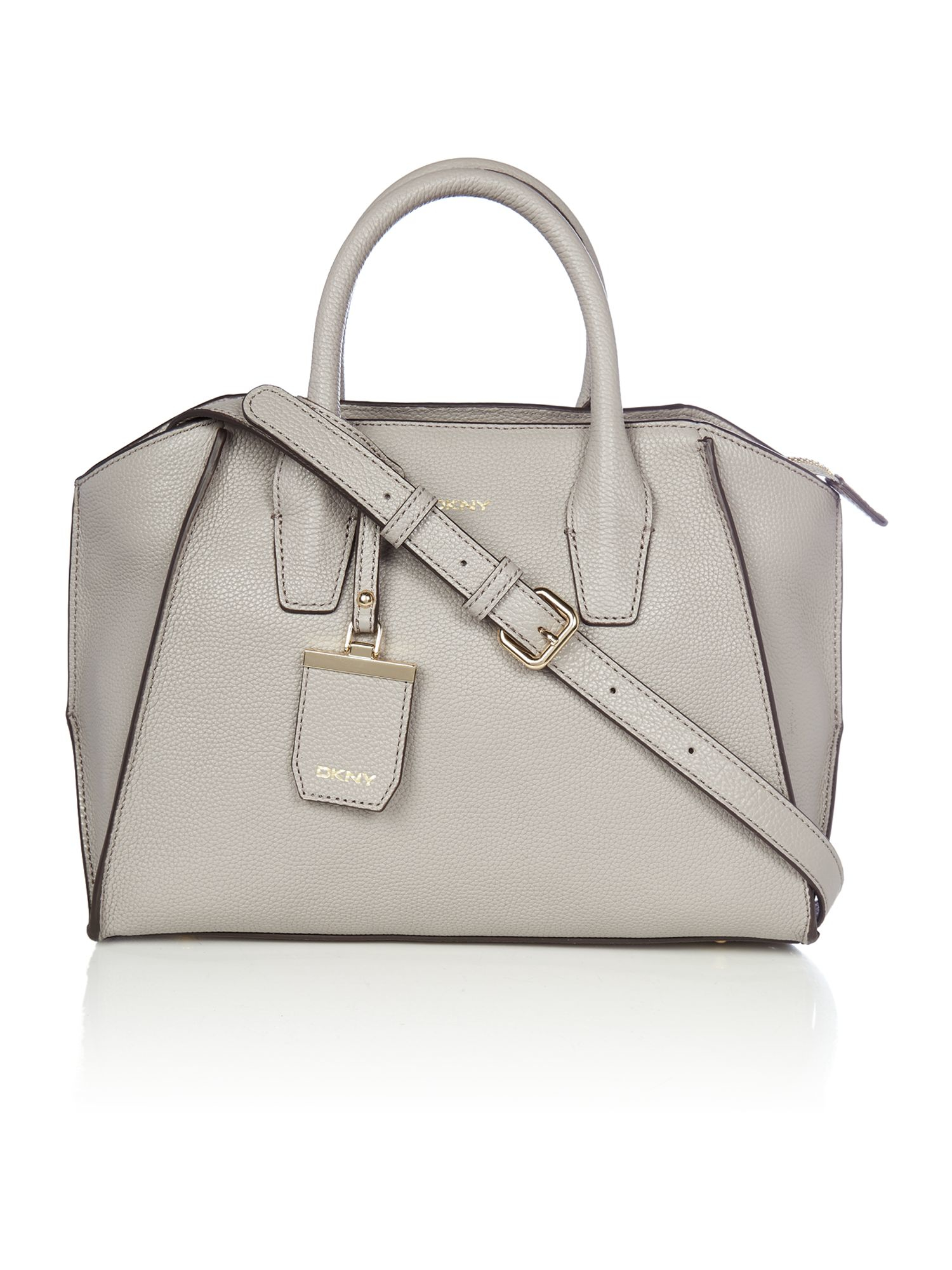 Dkny Chelsea Grey Medium Satchel Bag in Gray | Lyst