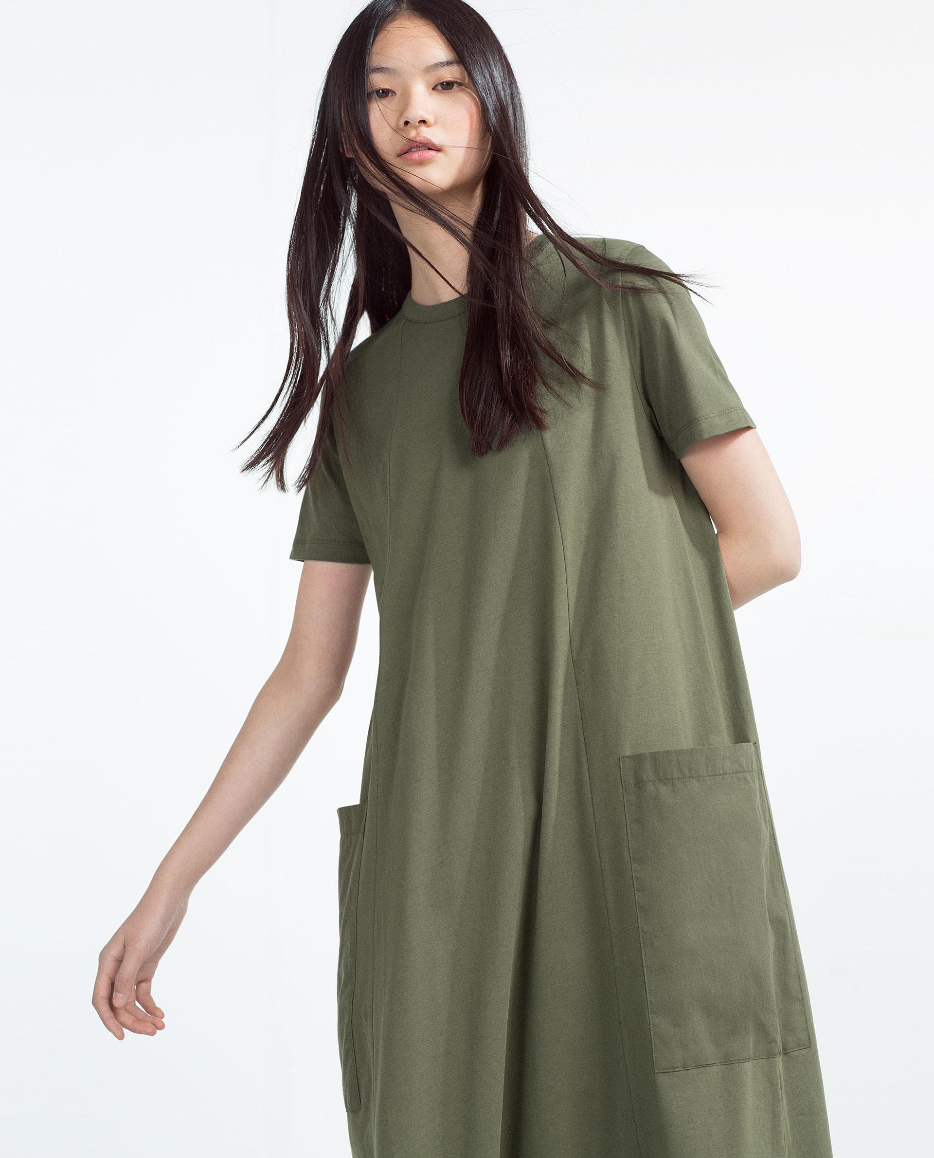 Zara Oversized Dress in Natural