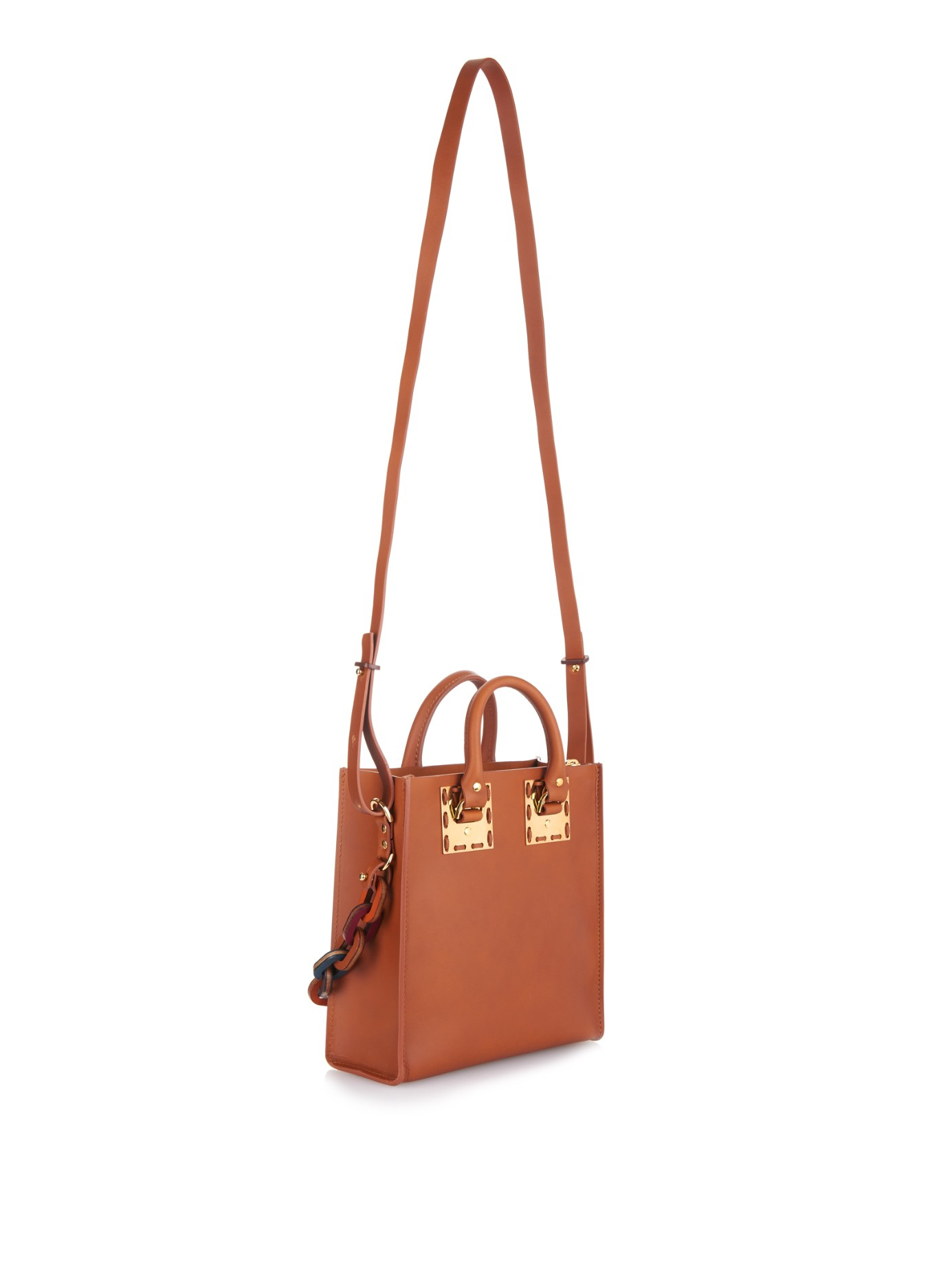Mini Albion Bag in Tan Cowhide Leather Sophie Hulme Websites For Sale Outlet q7PJWFw