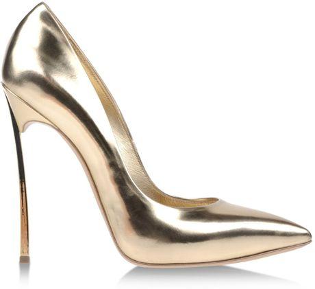 Casadei Closed Toe in Gold
