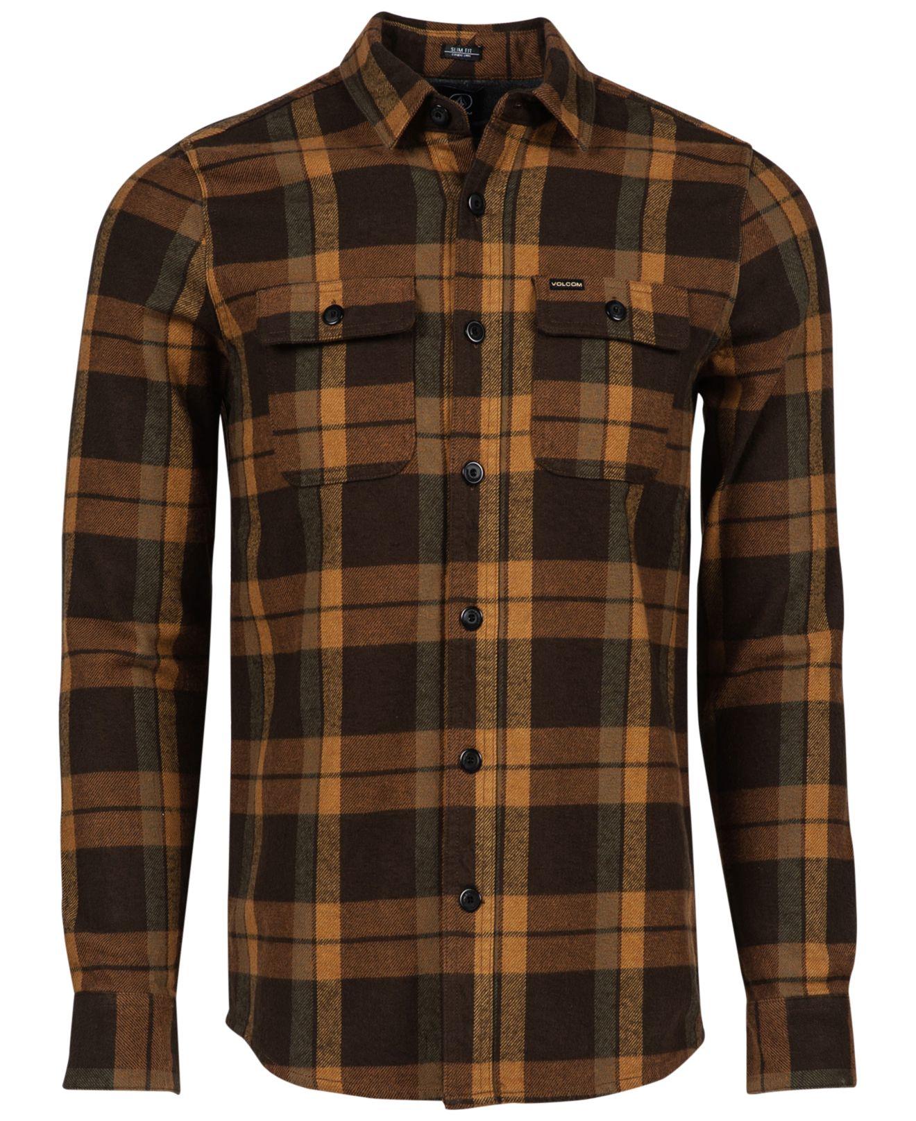 Volcom Vernon Shirt In Brown For Men Lyst