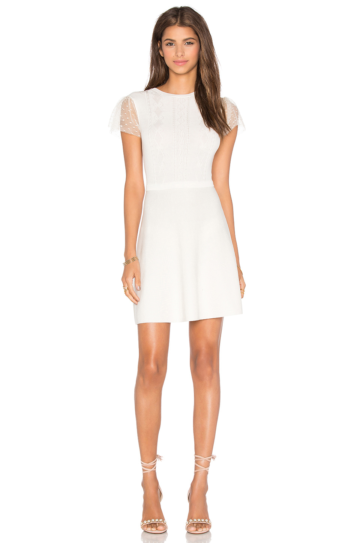 valentino sweater dress in white lyst