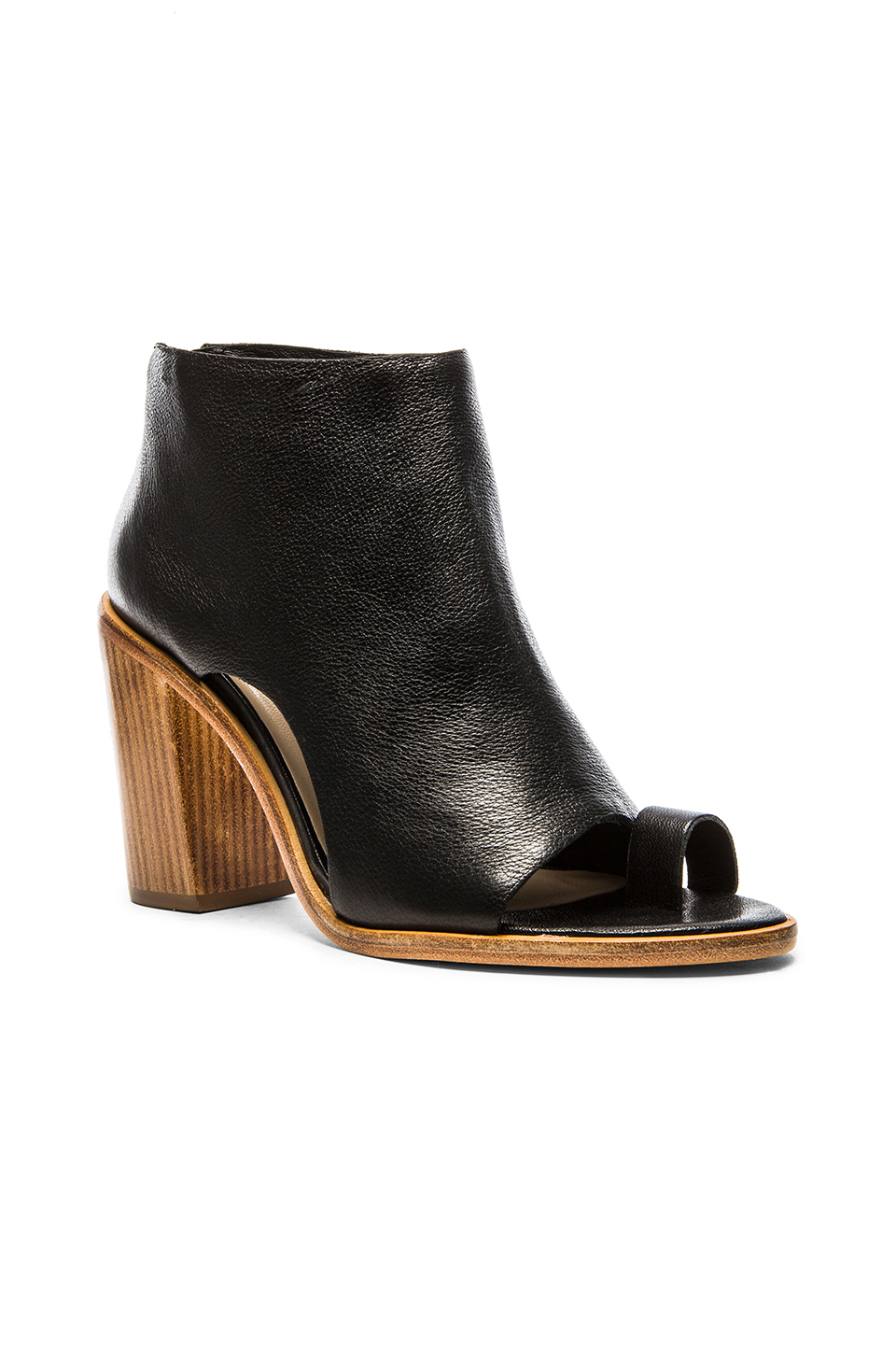 The Gigi Smoother Leather Block Heel Booties czsxX