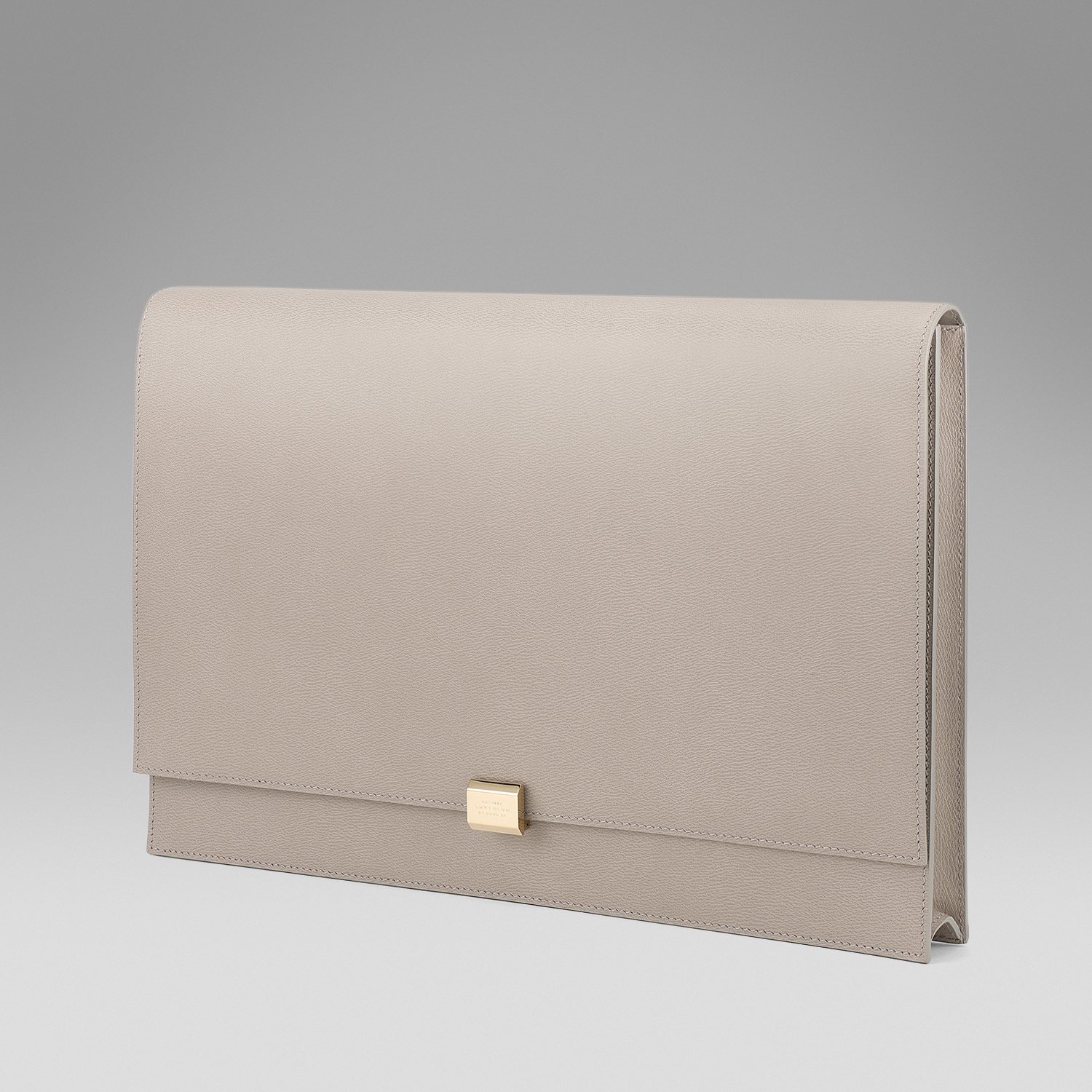 Smythson Large Clutch in Gray | Lyst