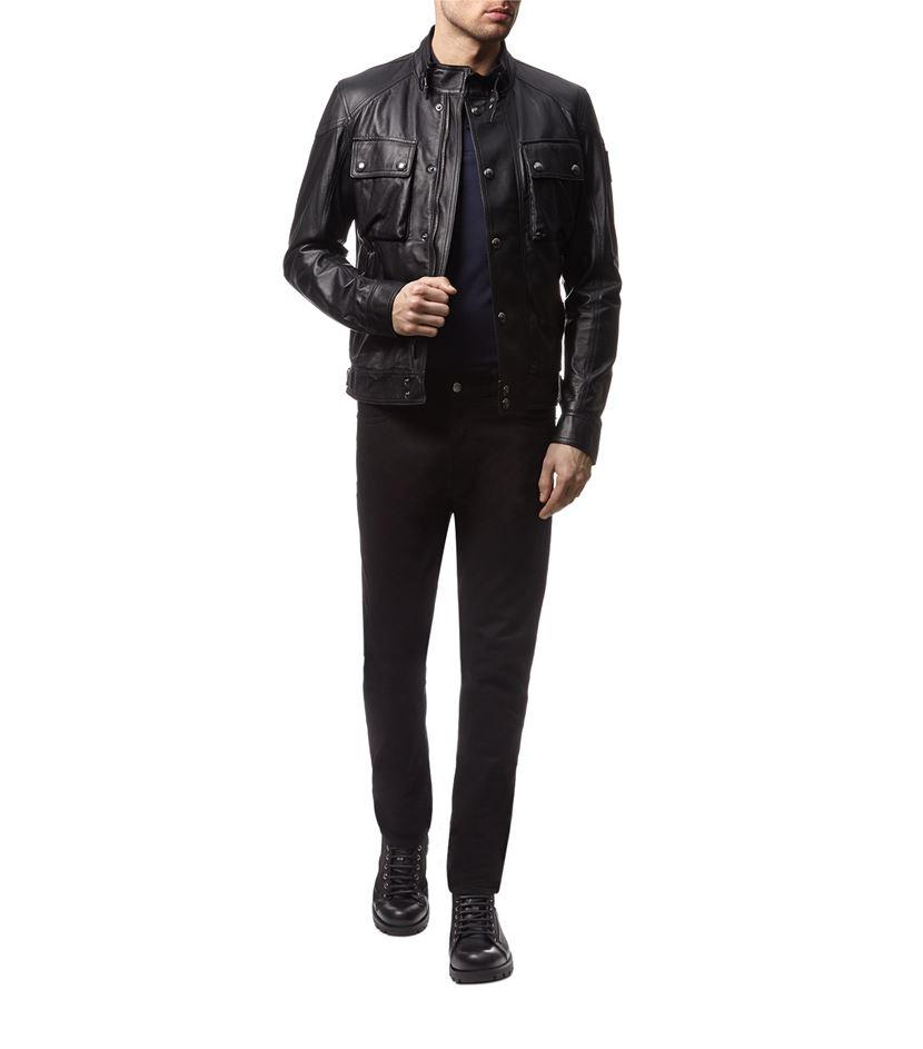 Belstaff Racemaster Black Leather