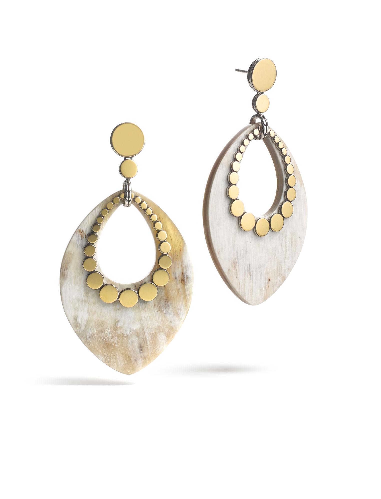 John hardy dot marquise earrings in metallic lyst for John hardy jewelry earrings