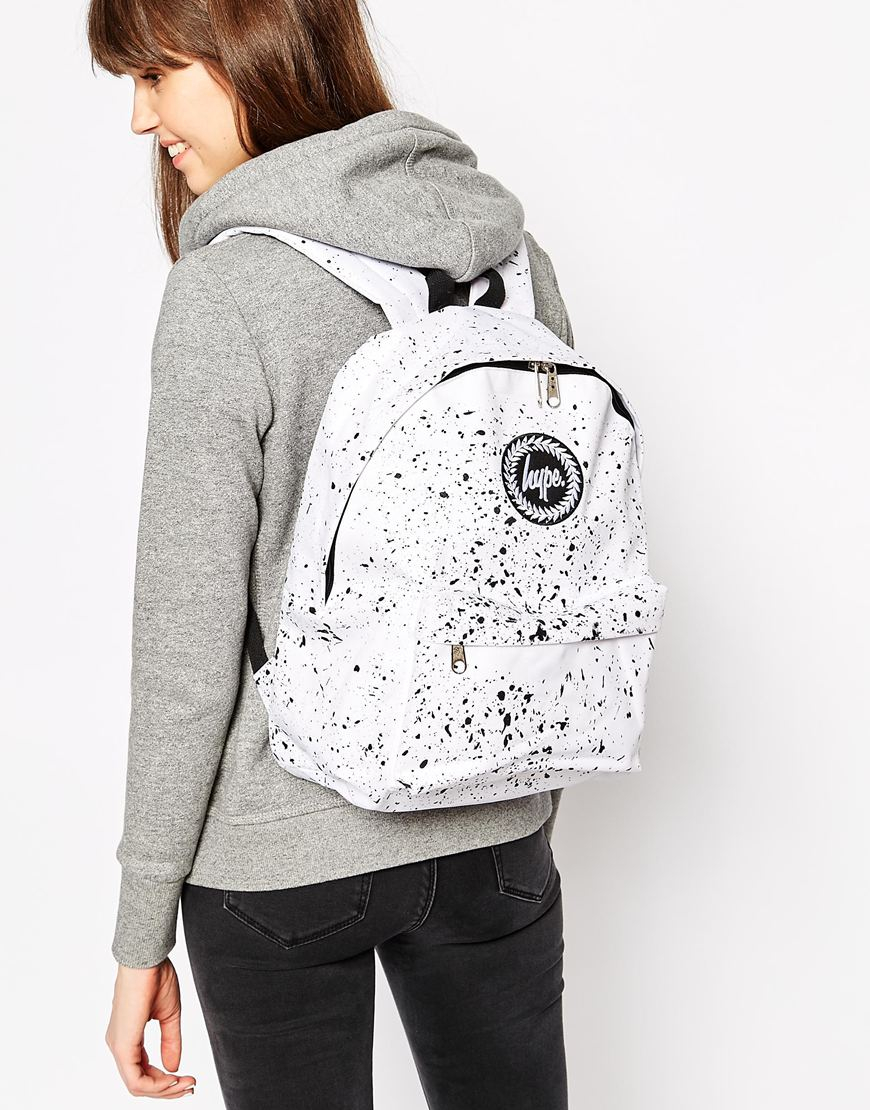 Lyst - Hype White Speckle Backpack in Black a58e4a397092a