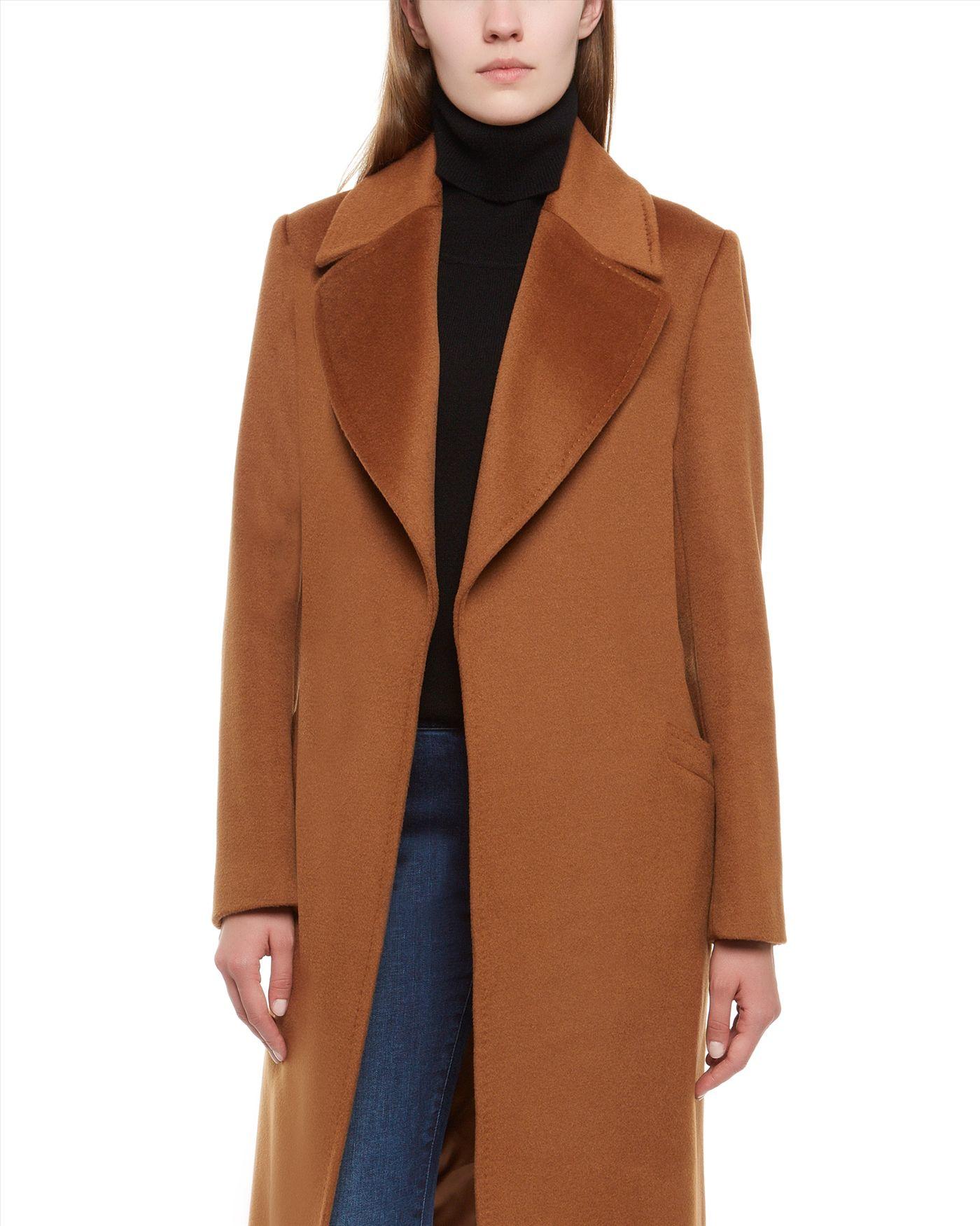 Jaeger Wool Wrap Coat in Brown | Lyst