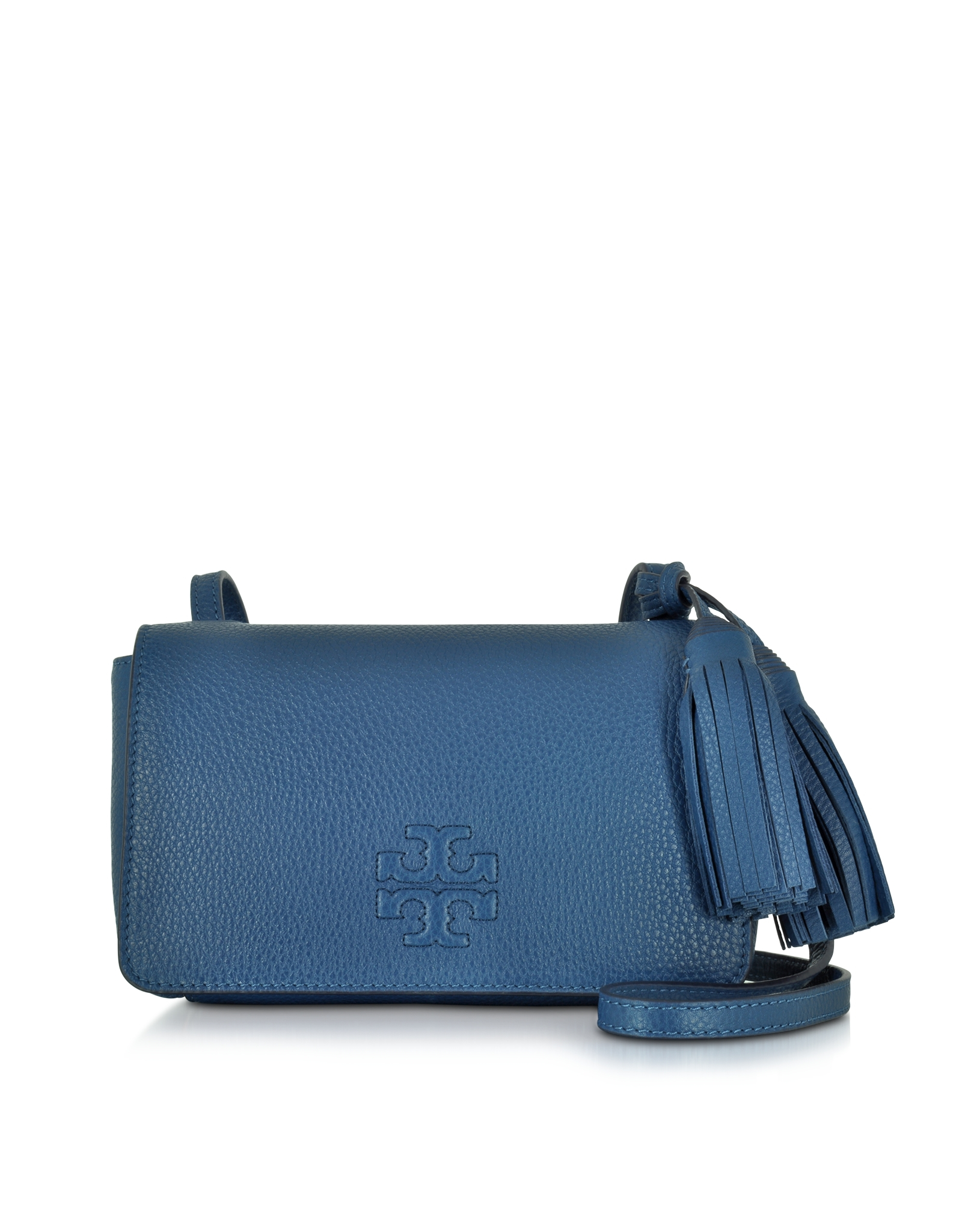 4f86f0c2eba35 Lyst - Tory Burch Thea Mini Tidal Wave Pebbled Leather Crossbody Bag ...