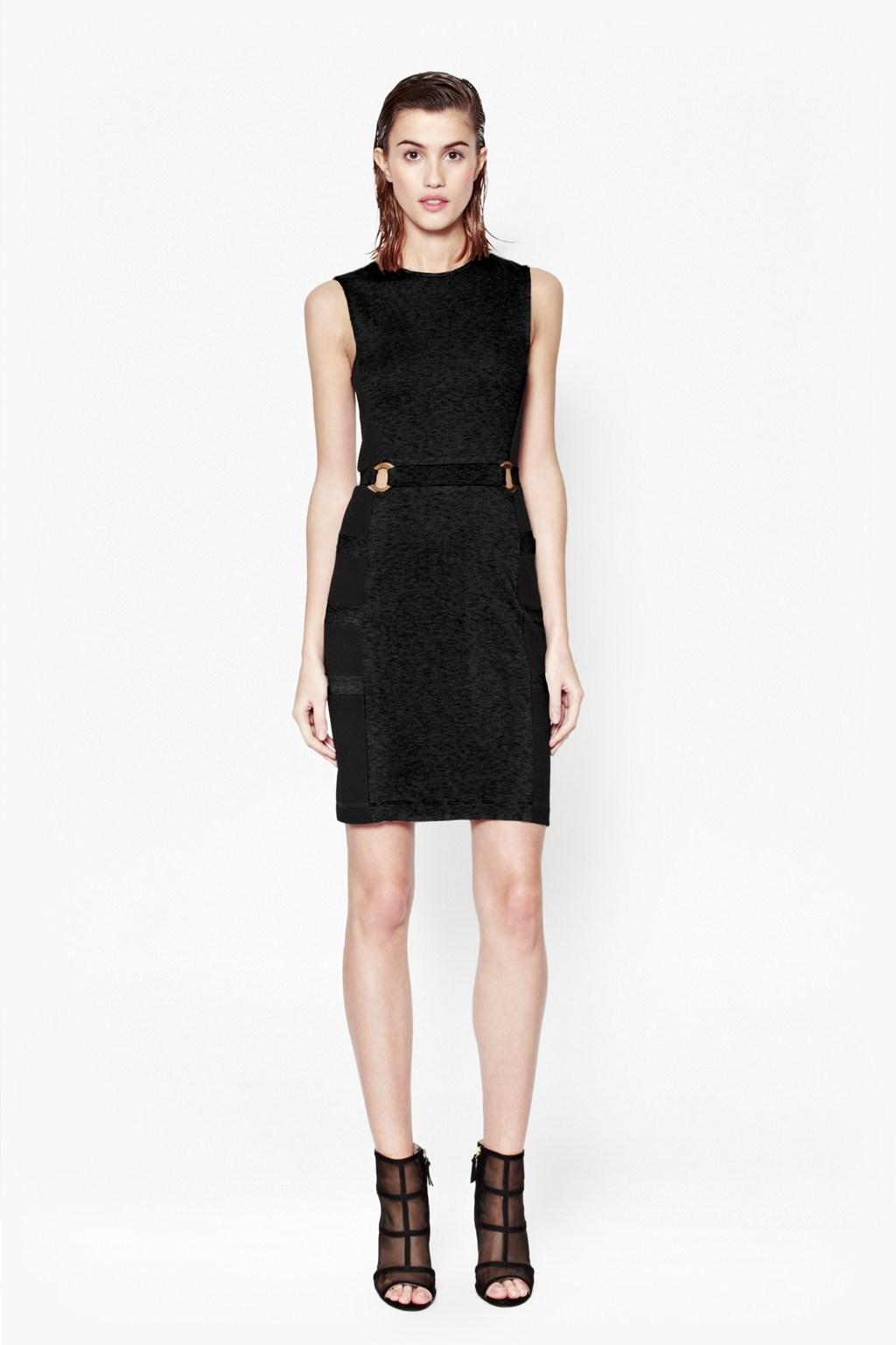 French connection jennifer tux sleeveless dress in black for French connection shirt dress