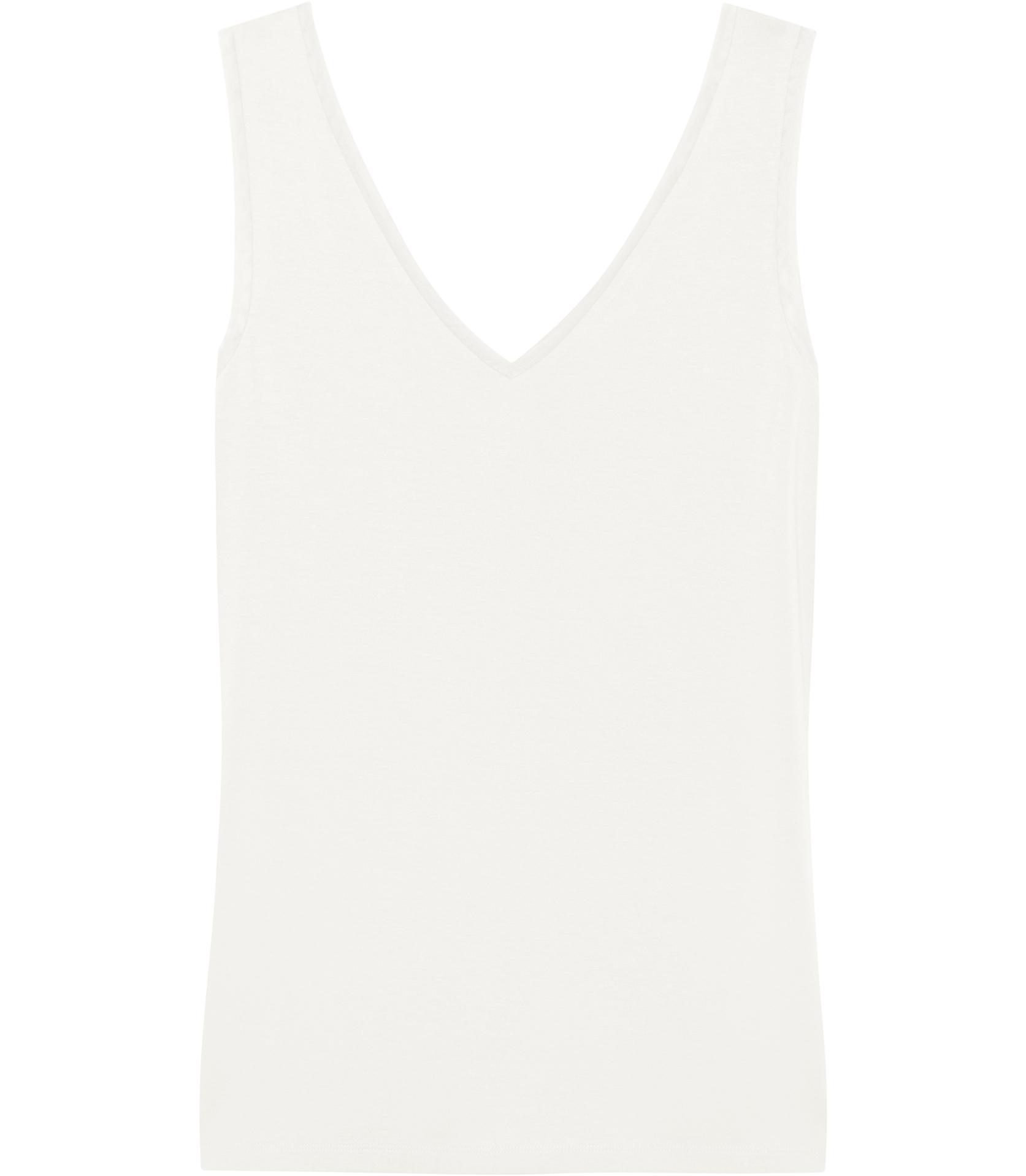 212dcc38e6676 Lyst - Reiss Ona V-neck Tank Top in White